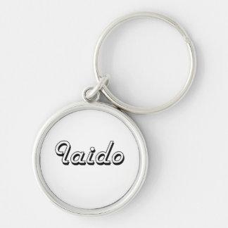Iaido Classic Retro Design Silver-Colored Round Keychain
