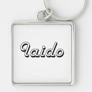 Iaido Classic Retro Design Silver-Colored Square Keychain