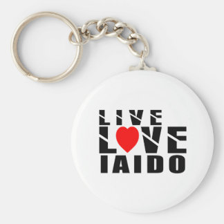 IAIDO Designs Basic Round Button Keychain
