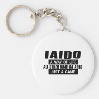 Iaido Gifts Basic Round Button Keychain