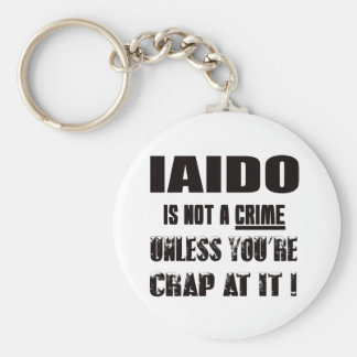 Iaido is not a crime basic round button keychain