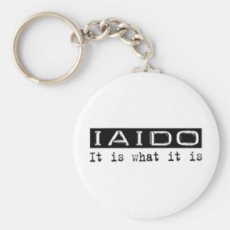 Iaido It Is Basic Round Button Keychain