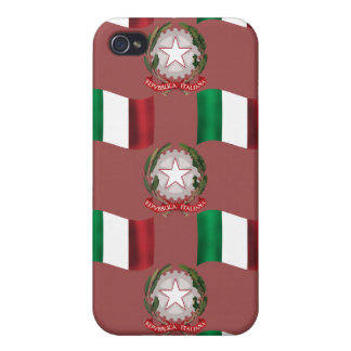 Ialian Flag and Crest iPhone 4 Cover