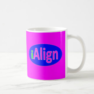 iAlign neon green, blue, and bright pink Coffee Mug