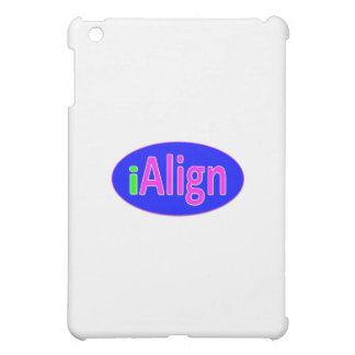 iAlign neon green, blue, and bright pink iPad Mini Cover