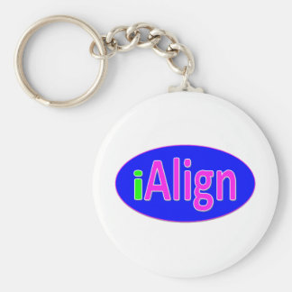 iAlign neon green, blue, and bright pink Keychain
