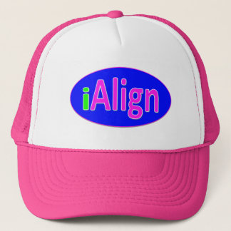 iAlign neon green, blue, and bright pink Trucker Hat