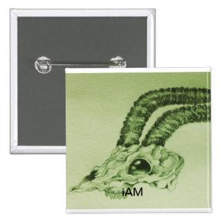 iAM Glory eye ram skull Pin