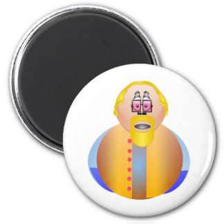 I'am Not Fat Just Big Boned 2 Inch Round Magnet