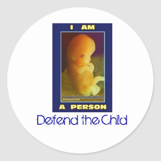 IamaPerson3, Defend the Child Classic Round Sticker