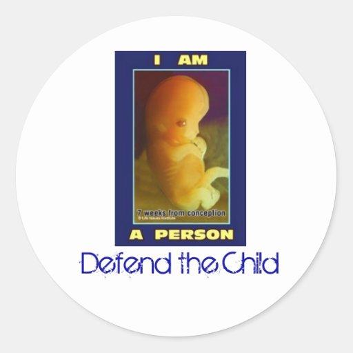 IamaPerson3, Defend the Child Round Stickers