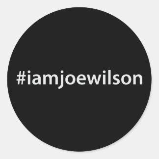 #iamjoewilson classic round sticker