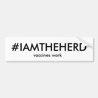 #IAMTHEHERD bumper sticker Car Bumper Sticker