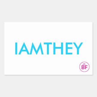 IAMTHEY Card Rectangular Sticker