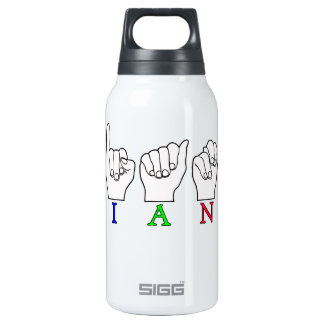 IAN FINGERSPELLED ASL SIGN 10 OZ INSULATED SIGG THERMOS WATER BOTTLE