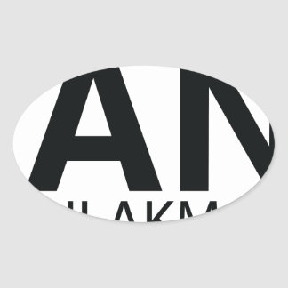 Ian for Congress Basic Logo Oval Sticker