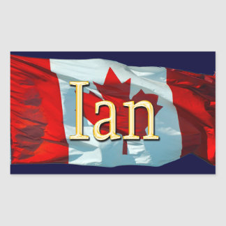 IAN Name & Canadian Flag Personal Stickers