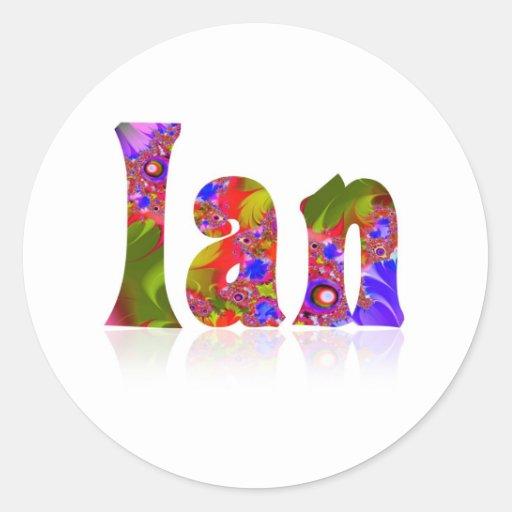 Ian Round Sticker