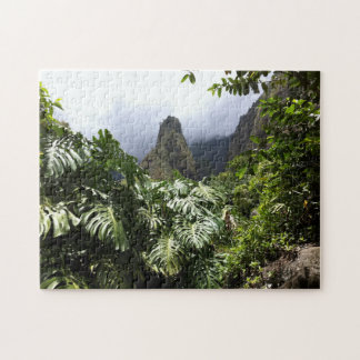Iao Needle in Iao Valley State Park, Maui, Hawaii Jigsaw Puzzle