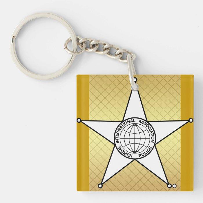 IAWP Single Sided Keychain