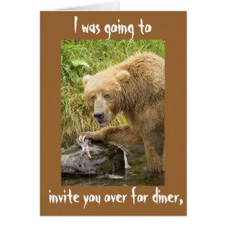 Iba a invitarle encima para el comensal tarjeta de felicitación