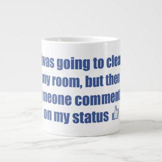 Iba a limpiar mi sitio, pero…. taza de café grande