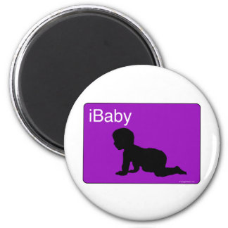 iBaby púrpura Imán De Nevera