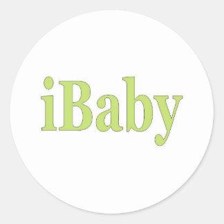 ibaby classic round sticker