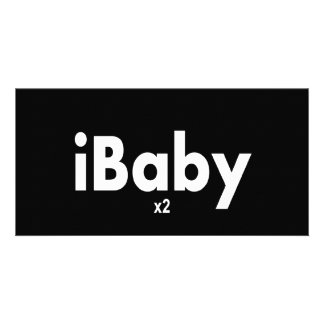 iBABY x2  Twins Photo Card Template