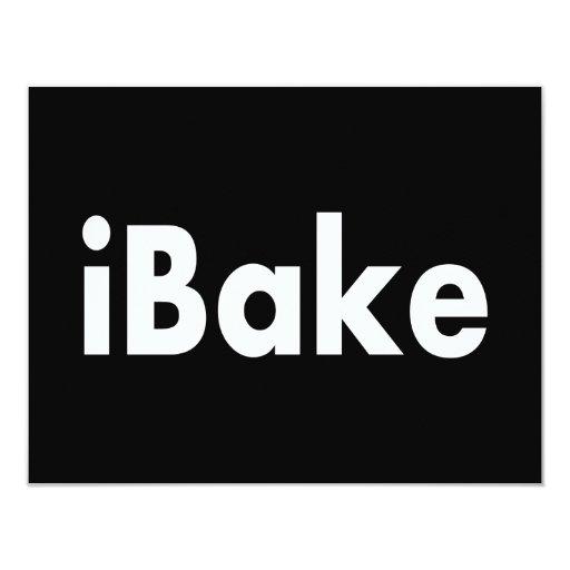 "iBake Invitación 4.25"" X 5.5"""