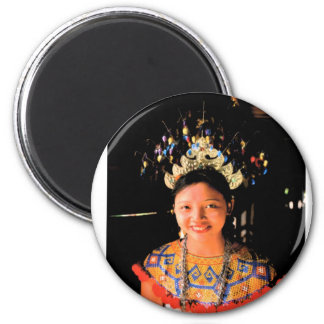 Iban girl 2 inch round magnet