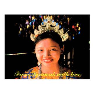 Iban girl postcard