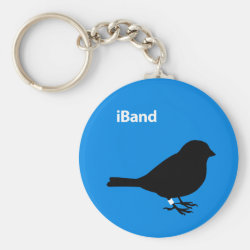 Basic Button Keychain with iBand Blue design