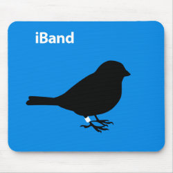 Mousepad with iBand Blue design