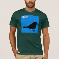 Men's Basic American Apparel T-Shirt with iBand Blue design