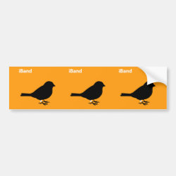 Bumper Sticker with iBand Orange design
