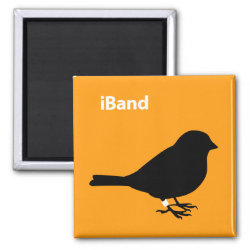 Square Magnet with iBand Orange design