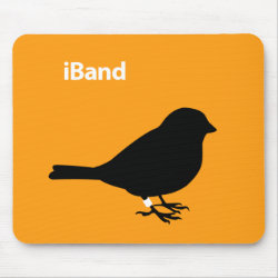 Mousepad with iBand Orange design