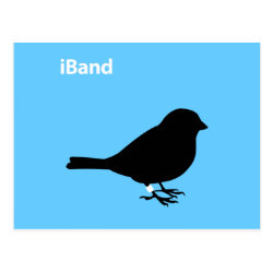 Postcard with iBand Blue design