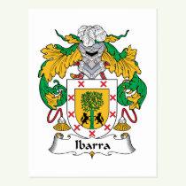 Ibarra Family Crest Postcard