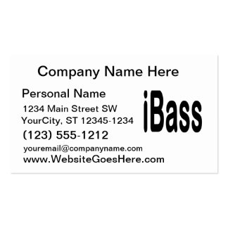 ibass music design black text business cards