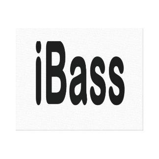 ibass music design black text canvas print