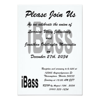 ibass music design black text card