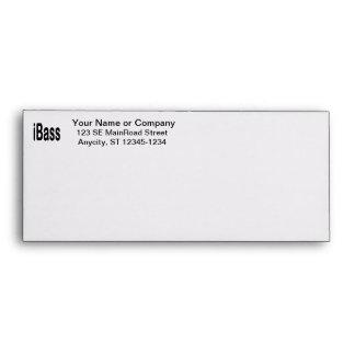 ibass music design black text envelope