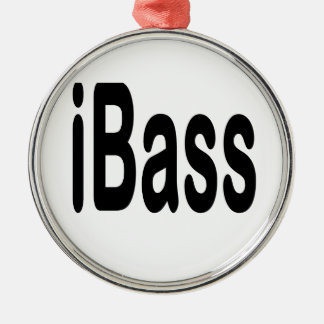 ibass music design black text christmas tree ornaments