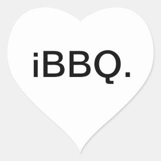 iBBQ Heart Sticker