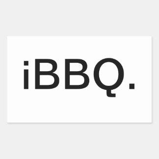 iBBQ. Rectangular Sticker