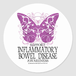 IBD Butterfly Classic Round Sticker