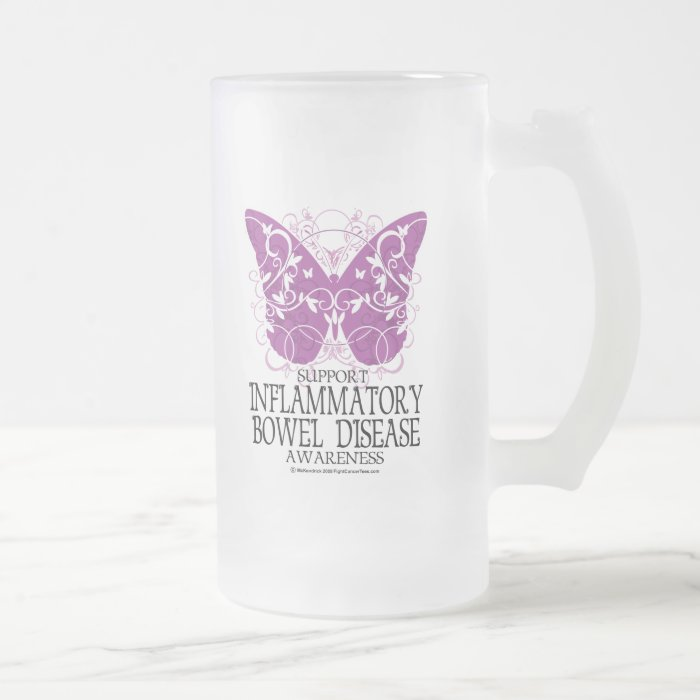 IBD Butterfly Frosted Glass Beer Mug