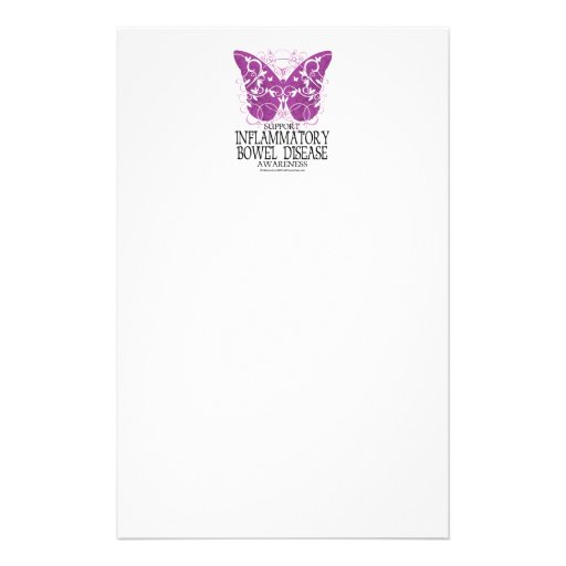 IBD Butterfly Personalized Stationery